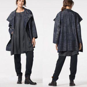 Oska Black Polyester Wool Blend High Rise Pants